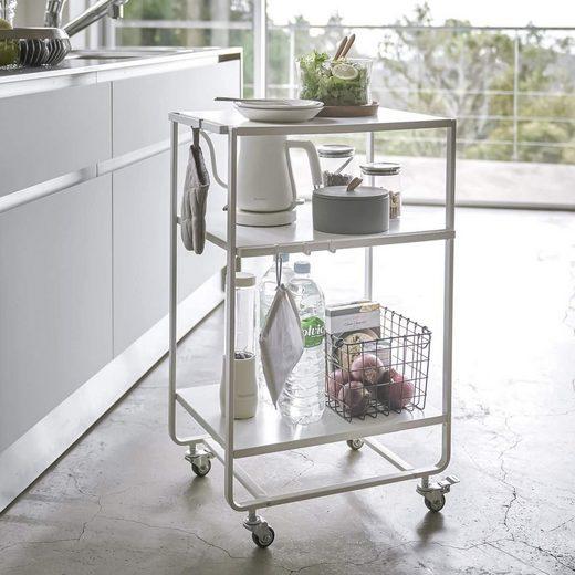 Yamazaki Küchenwagen »Tower«, auf Rollen, aus Metall mit 3 Ebenen