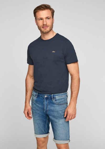 s.Oliver Bermudas »Regular Fit: Jeans-Bermuda« (1-tlg) Label-Patch