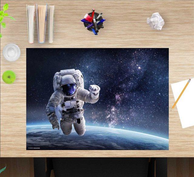 Kindertische - cover your desk.de Schreibtischaufsatz »Schreibtischunterlage für Kinder – Astronaut im Weltall – 60 x 40 cm – aus hochwertigem Vinyl«, (1 St)  - Onlineshop OTTO