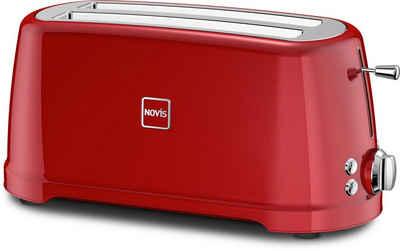 NOVIS Toaster T4 rot, 2 lange Schlitze, 1600 W