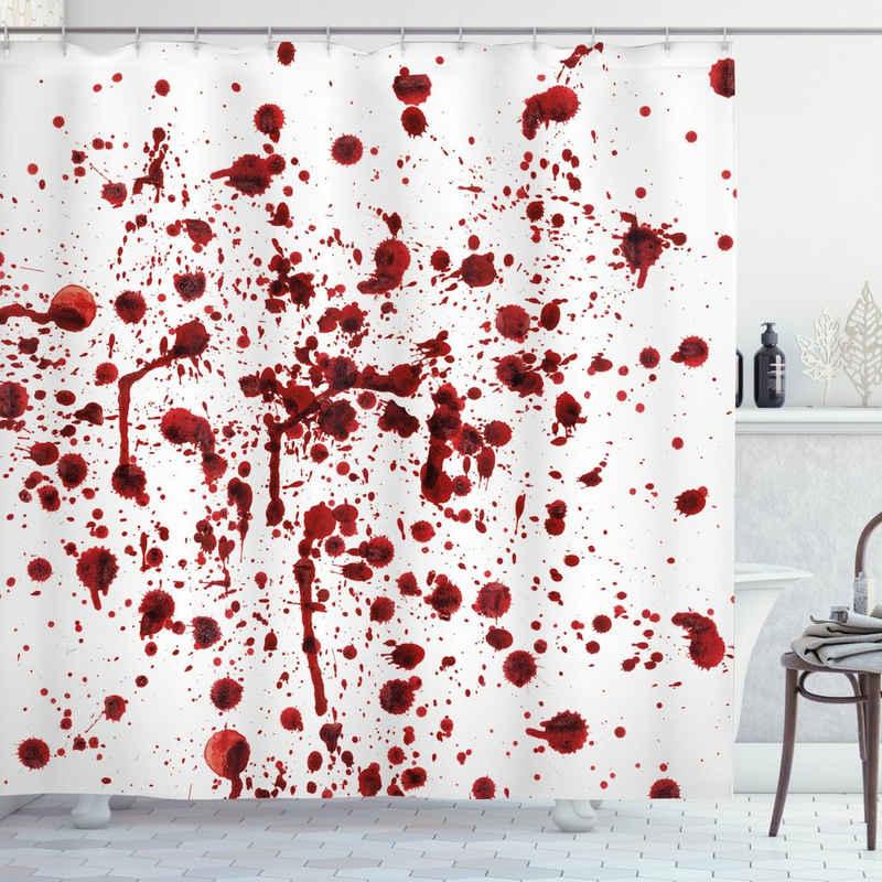 Abakuhaus Duschvorhang »Moderner Digitaldruck mit 12 Haken auf Stoff Wasser Resistent« Breite 175 cm, Höhe 200 cm, Blutig Blutspritzer Scary