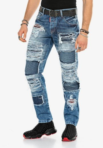 Cipo & Baxx Bequeme Jeans im auffälligen Riss-Design