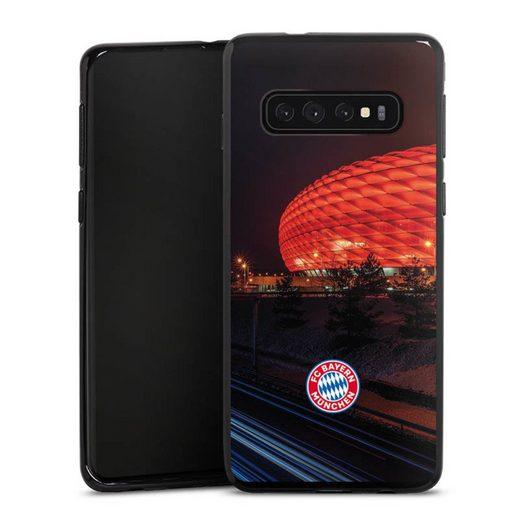 DeinDesign Handyhülle »Allianz Arena bei Nacht FCB« Samsung Galaxy S10 Plus, Hülle FCB Stadion FC Bayern München