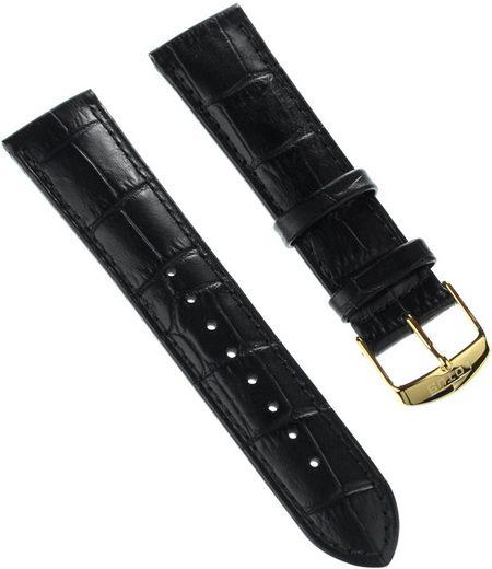 Lotus Uhrenarmband »ULA18156/S Lotus Herren Uhrenarmband 22mm«, Herren Uhrenarmband, Lederarmband schwarz, Elegant