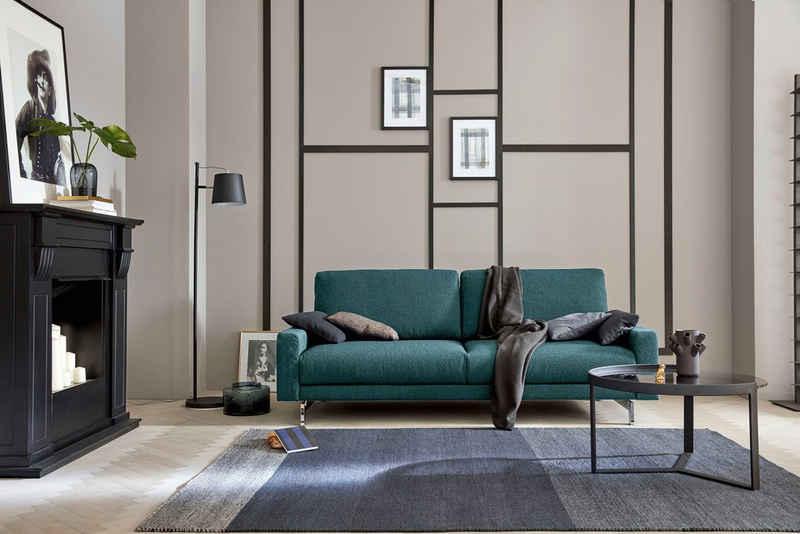 hülsta sofa 2-Sitzer »hs.450«, Armlehne schmal niedrig, Breite 164 cm, Fuß Chromspange, wahlweise in Stoff oder Leder
