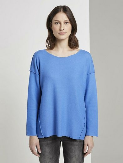 TOM TAILOR Denim T-Shirt »Geripptes Oversized Shirt«