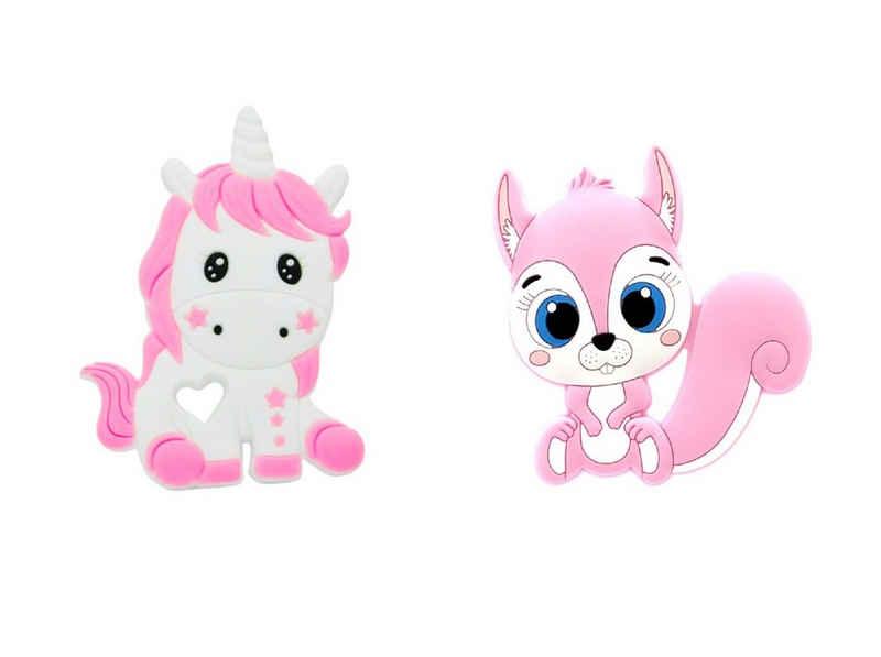 LIMDIX Beißring »Unicorn & Eichhörnchen Baby Beißring aus Silikon BPA-frei - Zahnungshilfe«