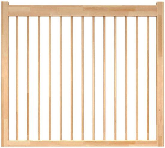 DOLLE Brüstungsgeländer »Lyon«, L: 100 cm, buche, mit Holzstäben