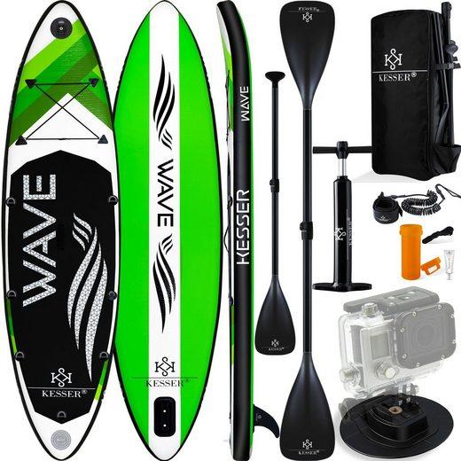 KESSER SUP-Board, Vario Aufblasbares SUP Board Set Stand Up Paddle Board Premium Surfboard Wassersport 6 Zoll Dick Komplettes Zubehör 130kg