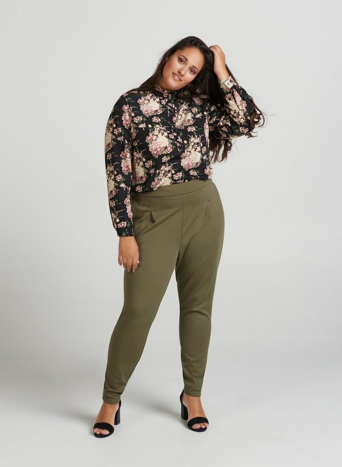 zay -  Stoffhose Damen Hose Straight Leg Casual Elegant Stoffhose Große Größen