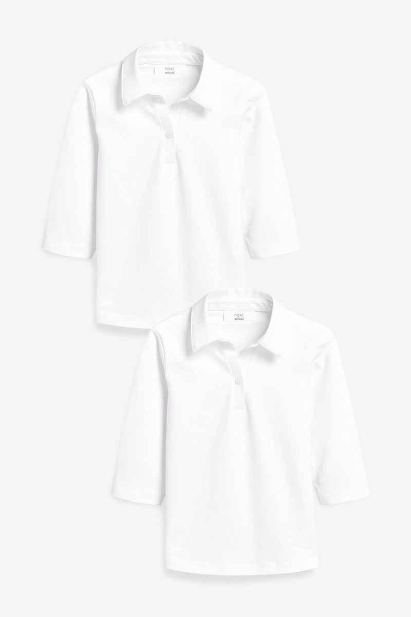 Next Shirtbluse »Jersey-Blusen mit Dreiviertelärmeln, 2er-Pack« (2-tlg)