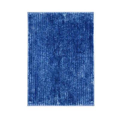 Badematte »Coral Hellblau« casa pura, Höhe 20 mm, Chenille-Struktur, Maschinenfest