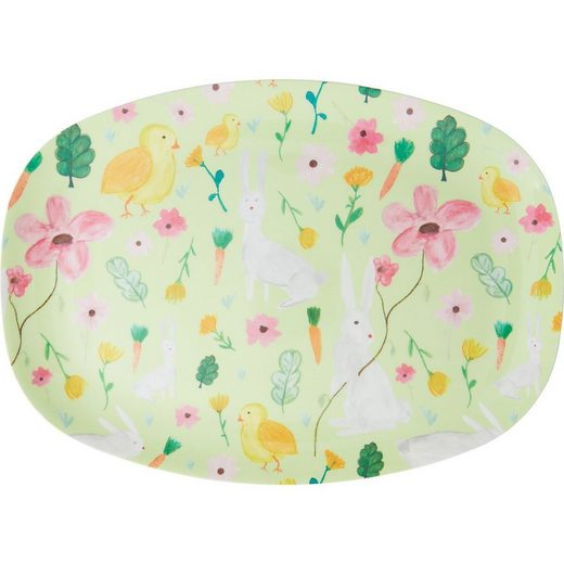 "rice Servierplatte »Melamin Servier-Teller ""Green Easter"", 30x22cm«"