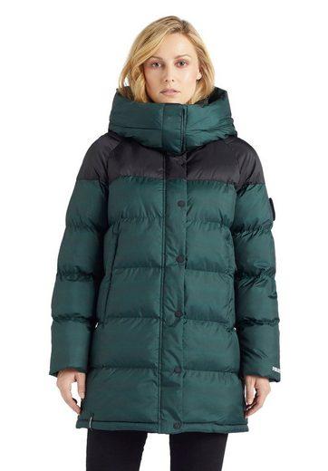 khujo Steppjacke »GERALDINE« stylischer Winter Steppmantel m. abnehmbarer Kapuze