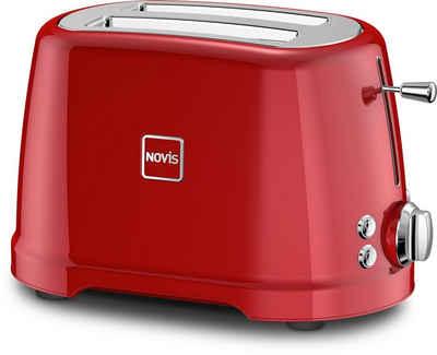 NOVIS Toaster T2 rot, 2 kurze Schlitze, 900 W