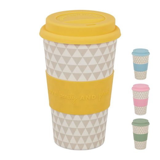 relaxdays Coffee-to-go-Becher »To Go Becher aus Bambus«