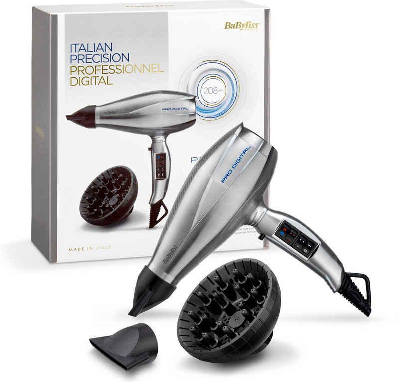BaByliss Haartrockner 6000E Pro Digital, 2200 W, mit digitalem Motor