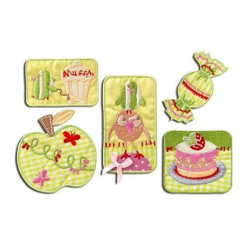Catch the Patch Aufnäher, Polyester, Set Süßigkeiten candy - Aufnäher, Bügelbild, Aufbügler, Applikationen, Patches, Flicken, zum aufbügeln, Größe: verschiedene Größen