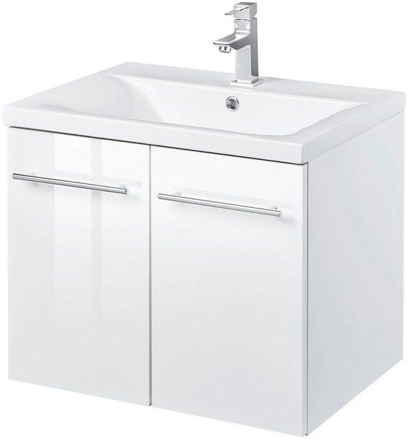 Waschtische - WELLTIME Waschtisch »Baja Lugo«, Waschplatz, 60 cm breit, Bad Set 2 tlg.  - Onlineshop OTTO