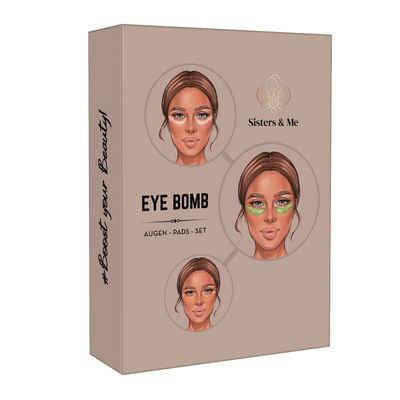 Sisters & Me Augenpads »Sisters & Me Eye Bomb Set, Vegan, Hydrogel Augen Pads Set gegen Augenringe & Tränensäcke, Hochdosiert, Hyaluronsäure Serum und Collagen, Premium Anti-Aging Augenpads«, 9-tlg.