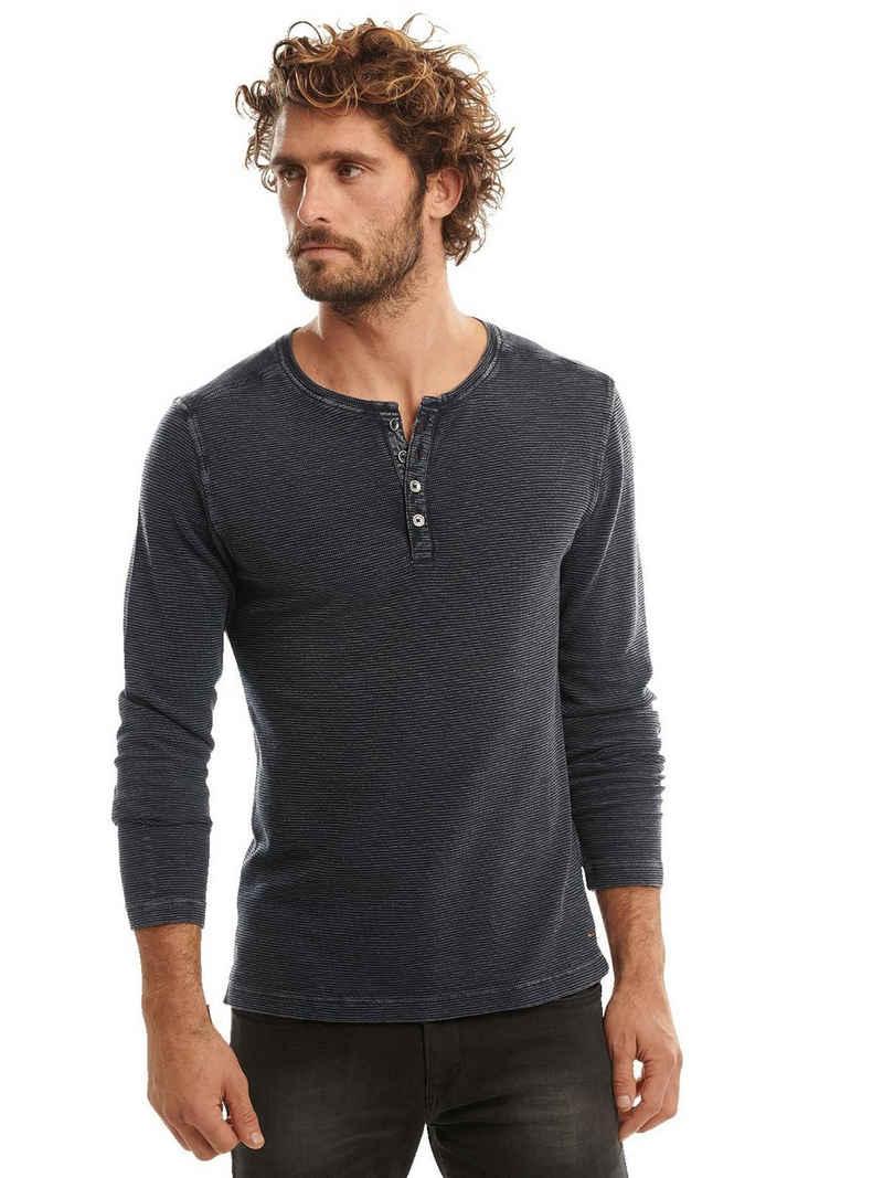 emilio adani Langarmshirt »Henley Shirt«