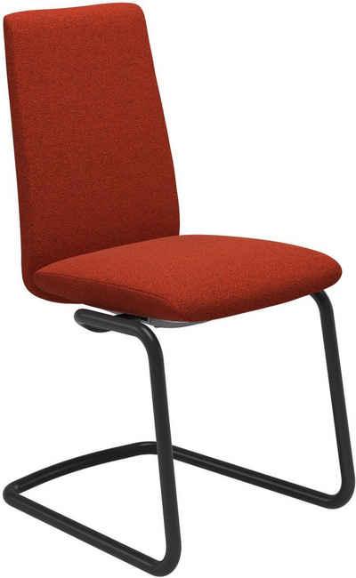 Stressless® Polsterstuhl »Laurel«, Low Back, Größe M, mit Beinen aus Stahl in Schwarz matt