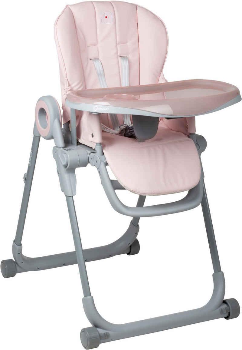 BabyGo Hochstuhl »Divan, pink«, platzsparend zusammenklappbar