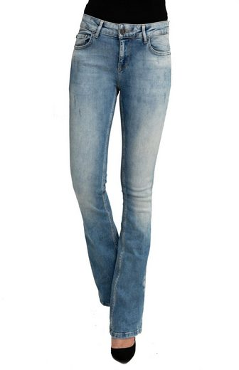 Zhrill Schlagjeans »Daffy Flare« Zhrill Damen Schlaghose Boot-Cut Jeans Vintage 5 Pocket Skinny Fit Daffy Flare