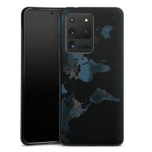 DeinDesign Handyhülle »Nightlight Worldmap« Samsung Galaxy S20 Ultra, Hülle Weltkarte Landkarte Nacht