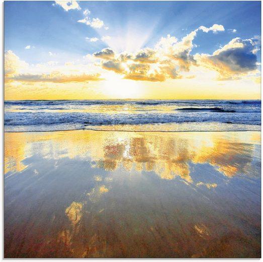 Artland Glasbild »Sonnenaufgang über dem Ozean«, Himmel (1 Stück)