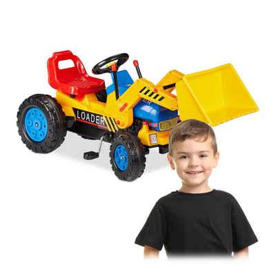 relaxdays Spielzeug-Bagger »Trettraktor mit Frontlader«