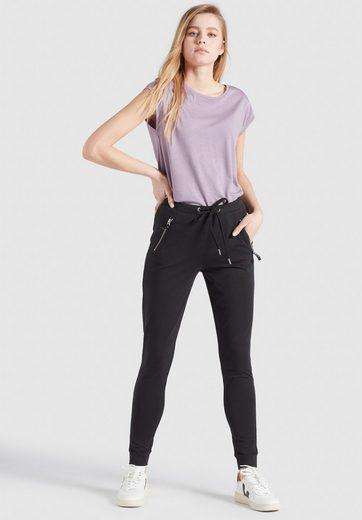 khujo Jogger Pants »ALENIA« (1-tlg) im Slim Fit mit Low Waist und Reißverschlusstaschen