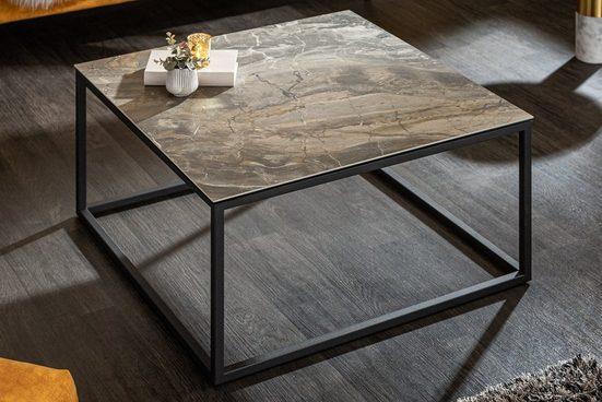 riess-ambiente Couchtisch »SYMBIOSE 75cm VARIANTENWAHL«, Tischplatte in Marmor-Optik
