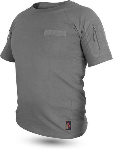 normani Funktionsshirt »Herren Taktisches Einsatz T-Shirt Sergeant« Einsatzshirt mit Klettpatches, Armtaschen & versteckten Seitentaschen
