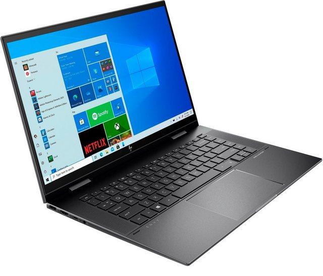 HP ENVY x360 15-eu0055ng Convertible Notebook 39,6 cm 15,6 Zoll, AMD Ryzen 5, Radeon , 512 GB SSD, Kostenloses Upgrade auf Windows 11, sobald verfügbar