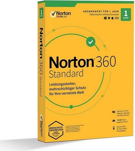 Norton 1 Gerät,10 GB Cloud-Speicherplatz (Virenprogramm, Download-Code)