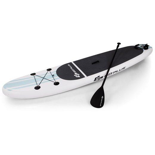 COSTWAY SUP-Board »Stand Up Paddling Board, Paddelboard, SUP-Board«, mit Sicherheitsleine, Paddel, Pumpe, Center Finne, Rucksack und Reparaturset, 305 x 76 x 15cm