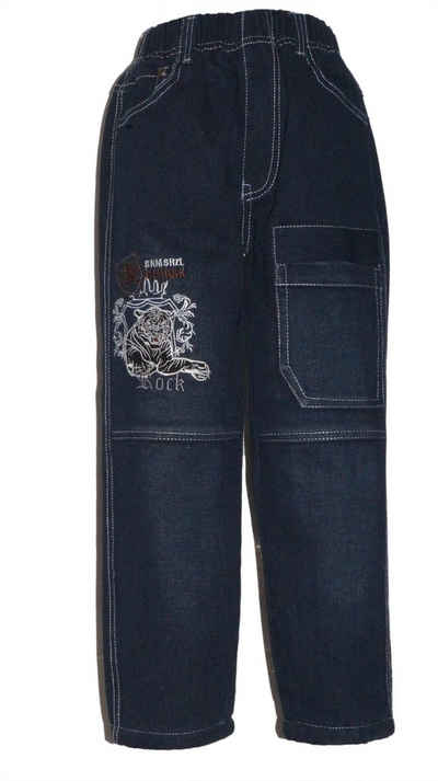 Family Trends Thermojeans »Thermojeans Tiger« warm mit Fleece gefüttert