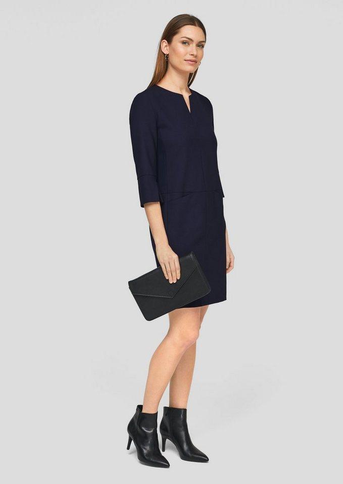 soliver black label minikleid »kleid mit femininem
