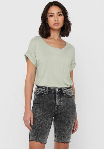 Only T-Shirt »ONLMOSTER« mit Aufschlag am Arm