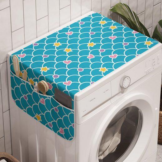 Abakuhaus Badorganizer »Anti-Rutsch-Stoffabdeckung für Waschmaschine und Trockner«, Abstrakt Pastell-Skala-Herz-Stern