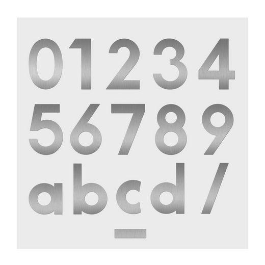 Heibi Briefkasten »Heibi Hausnummer MIDI 4 Edelstahl zum Kleben 64584-072 Nummer 4«