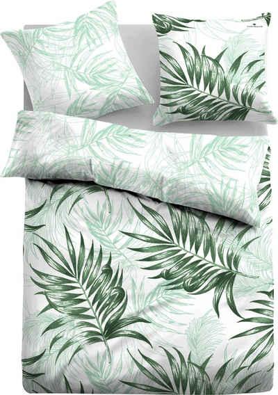 Wendebettwäsche »Emmy«, TOM TAILOR, mit tollen Palmenblättern
