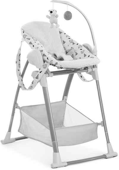 Hauck Kombihochstuhl »Sit N Relax 3in1, Nordic Grey«, mit Neugeborenenaufsatz und Wippengestell