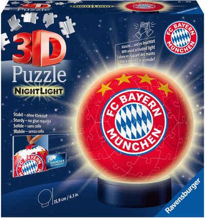 Ravensburger Puzzleball »Nachtlicht FC Bayern München«, 72 Puzzleteile, mit Leuchtmodul inkl. LEDs; Made in Europe, FSC® - schützt Wald - weltweit