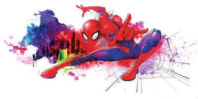 Komar Fototapete »Spider-Man Graffiti«, glatt, bedruckt, Comic, Retro, mehrfarbig, BxH: 300x150 cm