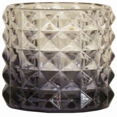 Zone Denmark Teelichthalter »ZONE Teelichthalter, Glas, anthrazit-transparent,«