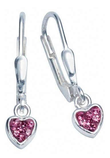 Firetti Paar Ohrhänger »Herzen, glänzend, massiv«, mit Zirkonia