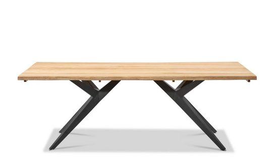 Musterring Gartentisch »Freilicht - Tisch: Holland«, Teak massiv gebürstet mit Baumkante, Aluminium Gestell, Länge 220 cm