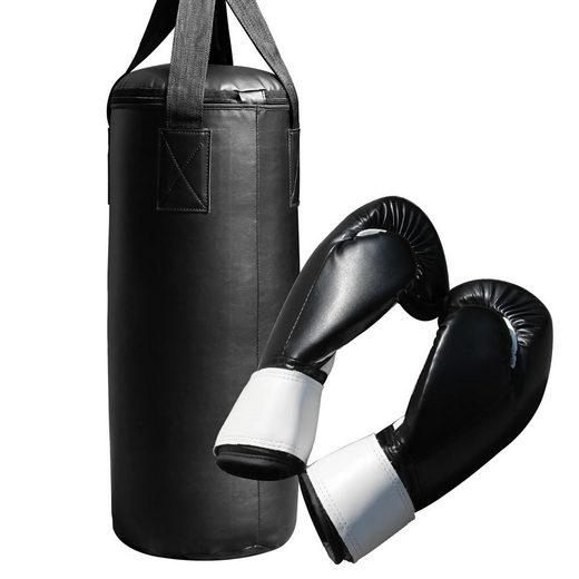 Mucola Boxsack »Boxsack 60CM gefüllt 9KG + Handschuhe Sandsack Boxen Rocky Training Punch Jab Profi Handschuhe punching bag Boxbirne Halterung Boxset«